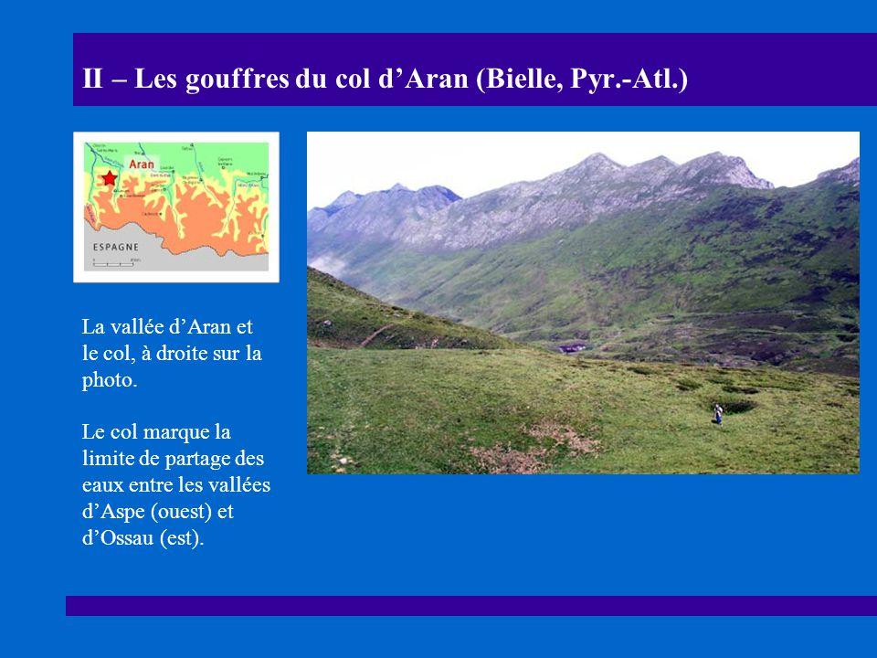 II – Les gouffres du col d'Aran (Bielle, Pyr.-Atl.)