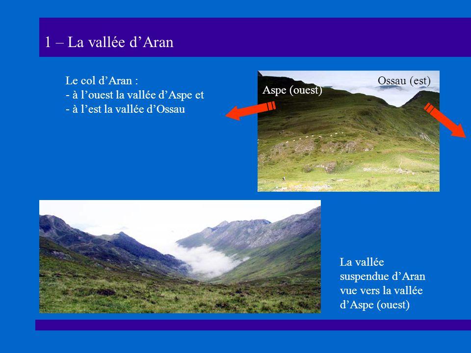 1 – La vallée d'Aran Le col d'Aran : à l'ouest la vallée d'Aspe et