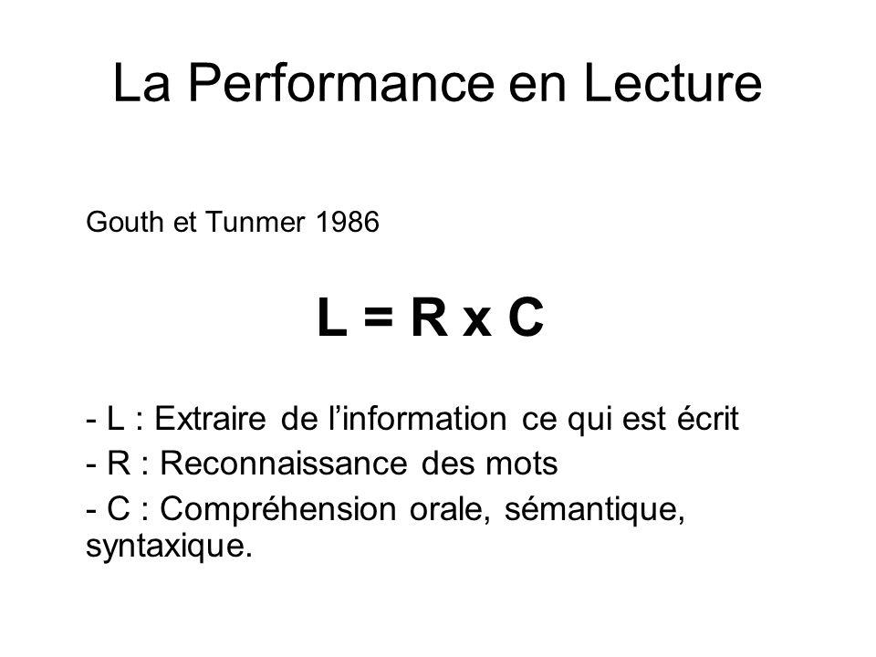 La Performance en Lecture