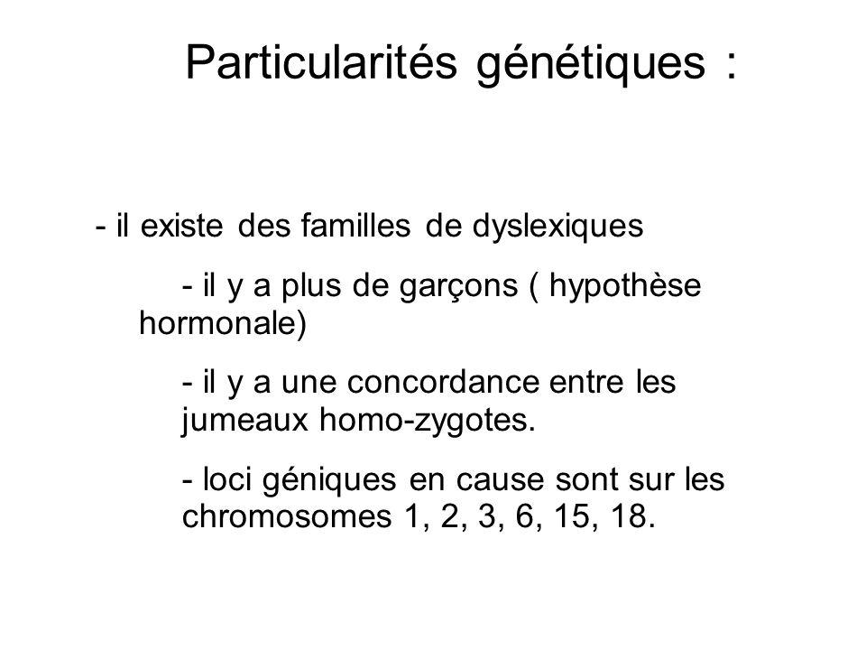 Particularités génétiques :
