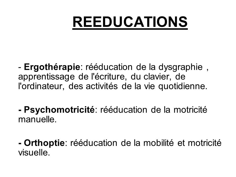 REEDUCATIONS