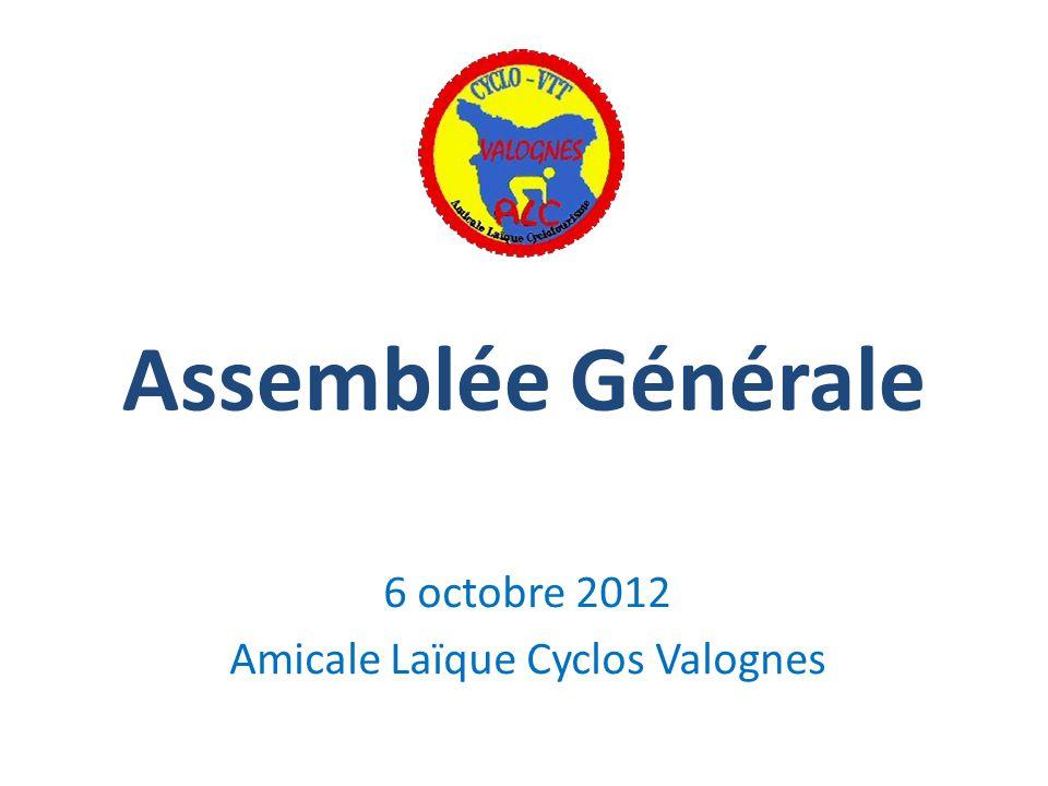 6 octobre 2012 Amicale Laïque Cyclos Valognes