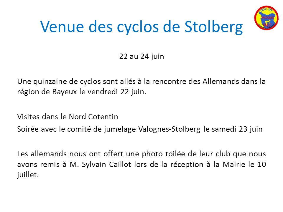 Venue des cyclos de Stolberg
