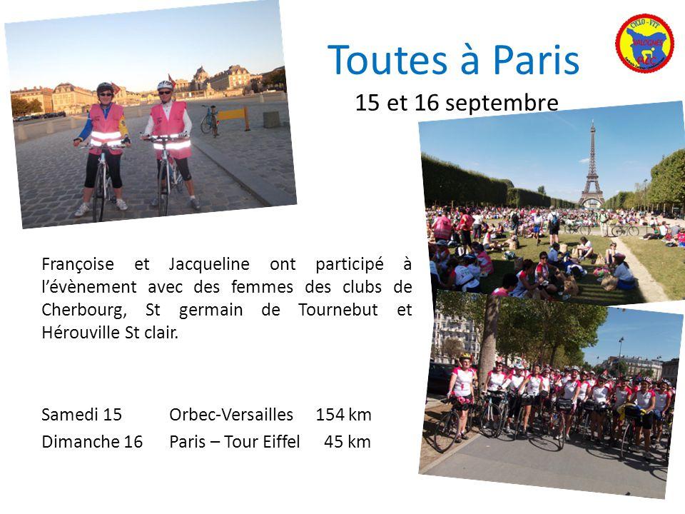 Toutes à Paris 15 et 16 septembre