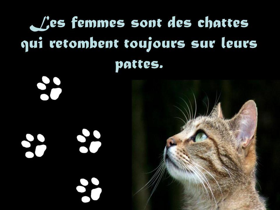 Les femmes sont des chattes qui retombent toujours sur leurs pattes.