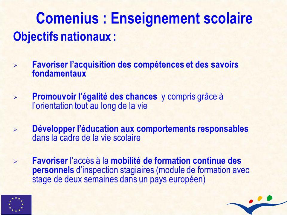 Comenius : Enseignement scolaire