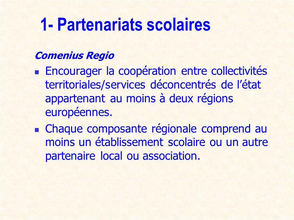 1- Partenariats scolaires