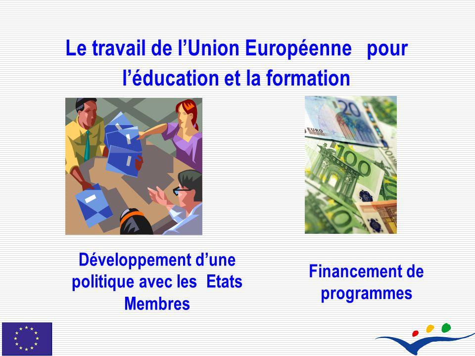 Le travail de l'Union Européenne pour l'éducation et la formation