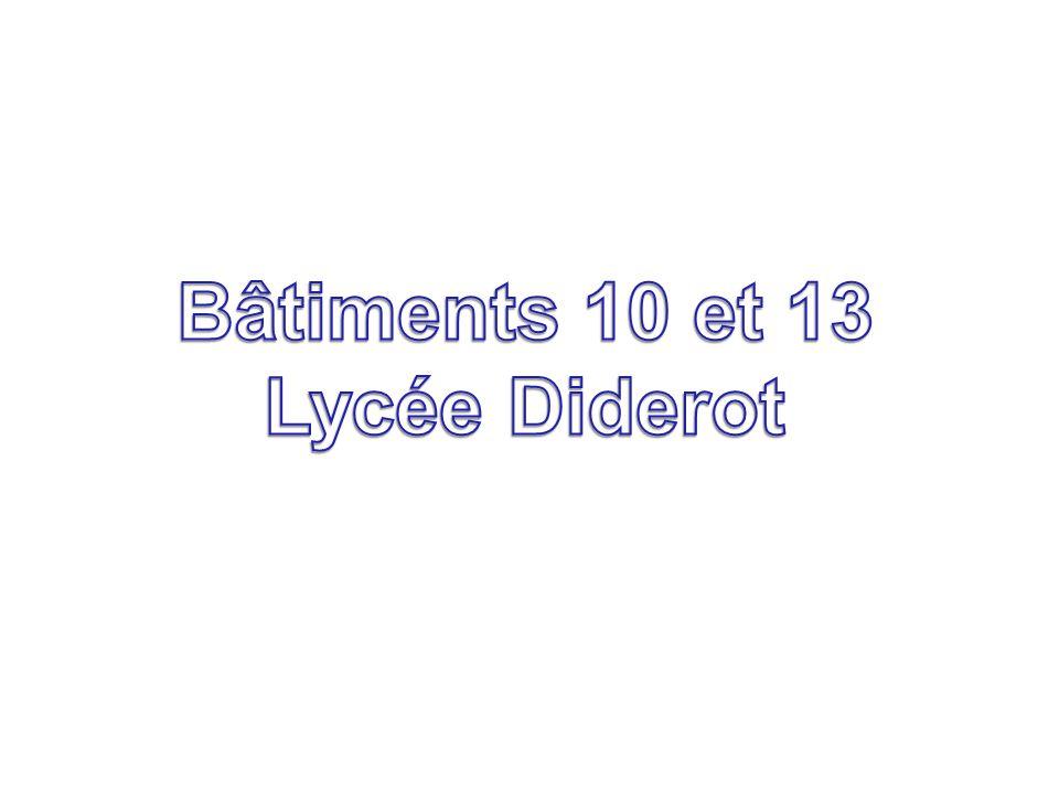 Bâtiments 10 et 13 Lycée Diderot