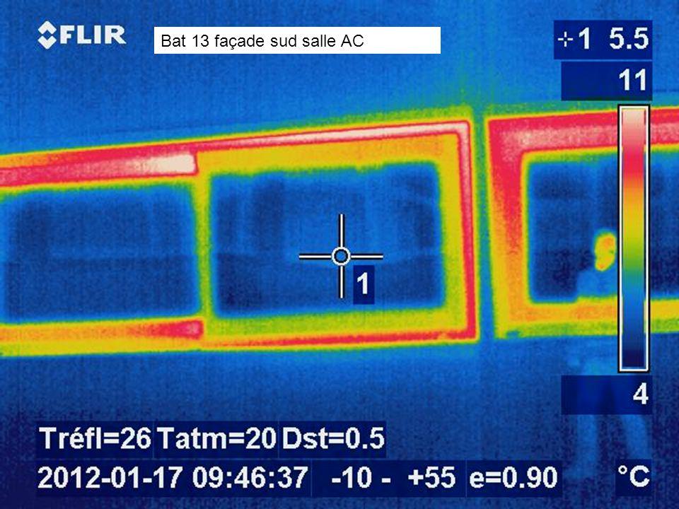 Bat 13 façade sud salle AC