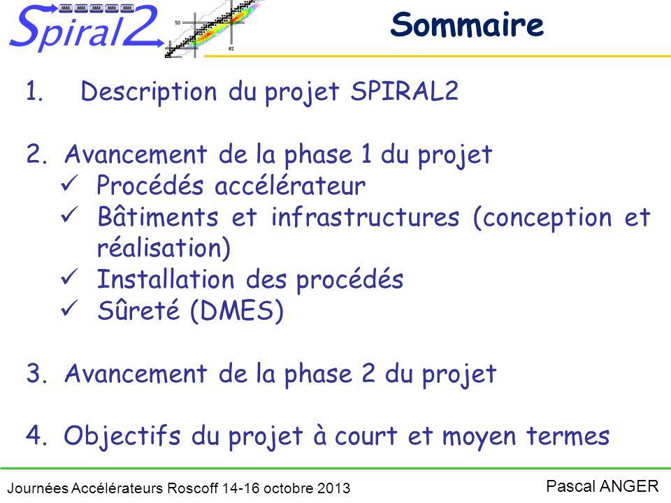 Sommaire Description du projet SPIRAL2