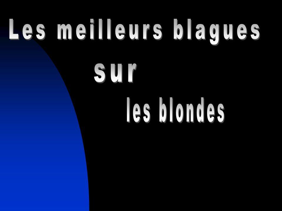 Les meilleurs blagues sur les blondes