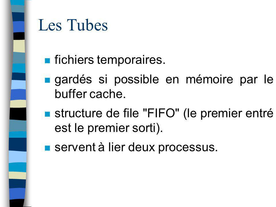 Les Tubes fichiers temporaires.