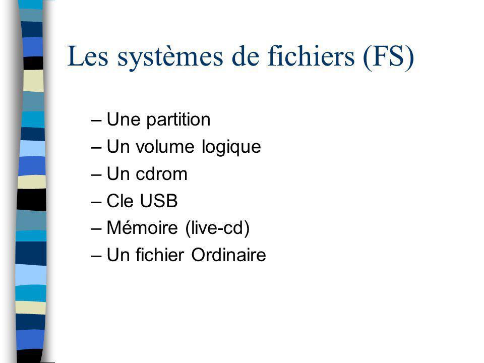 Les systèmes de fichiers (FS)