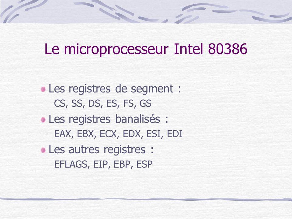 Le microprocesseur Intel 80386