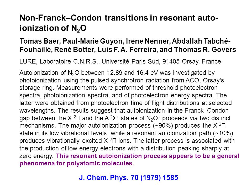 Non-Franck–Condon transitions in resonant auto-ionization of N2O