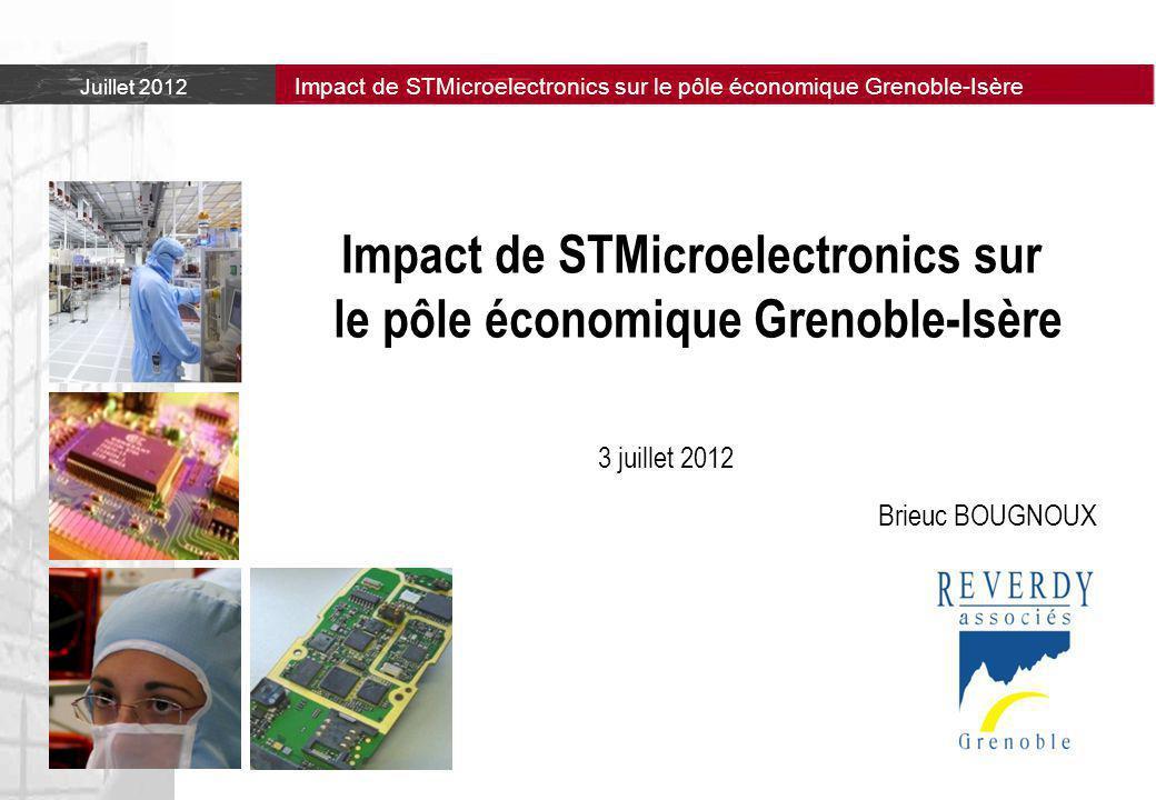 Impact de STMicroelectronics sur le pôle économique Grenoble-Isère