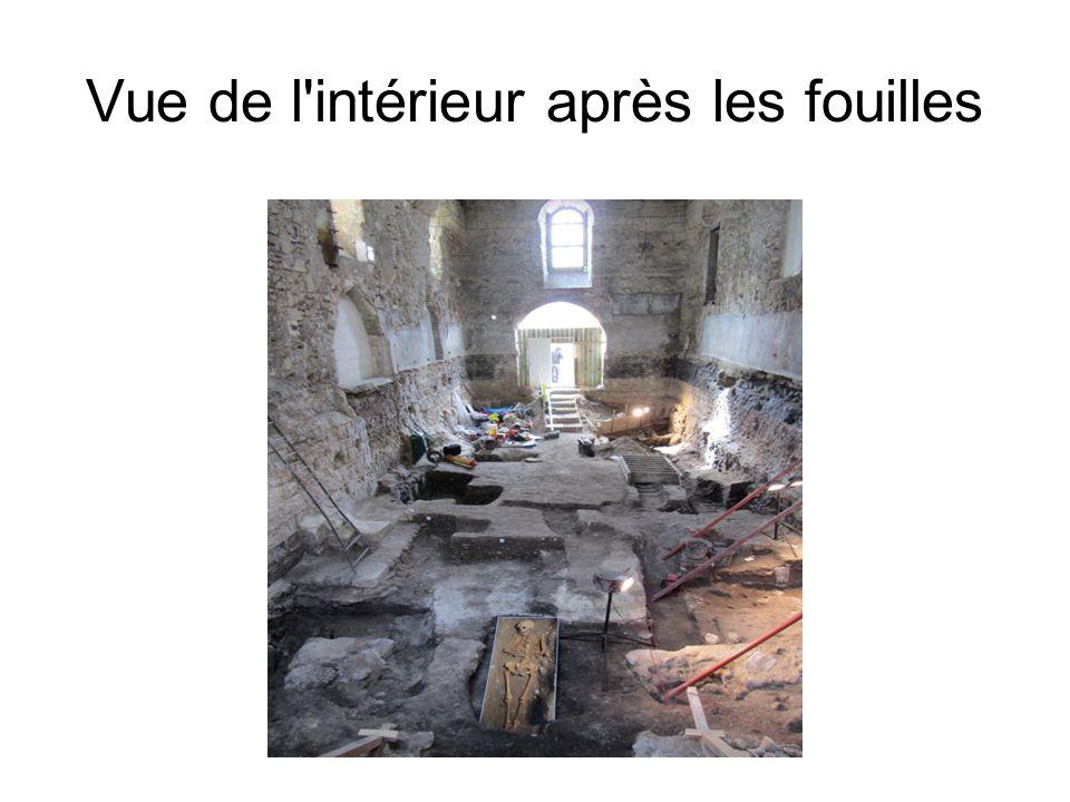 Vue de l intérieur après les fouilles