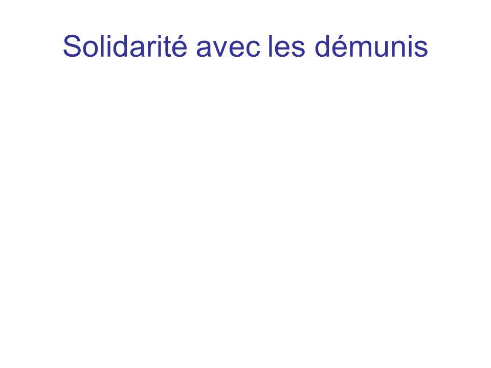 Solidarité avec les démunis