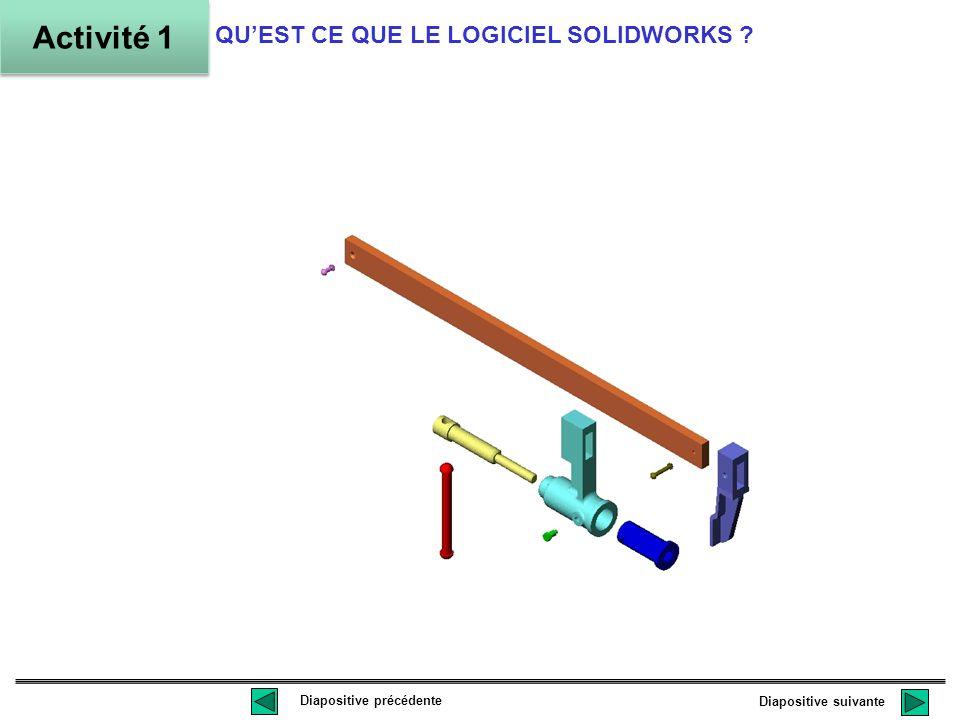 Activité 1 QU'EST CE QUE LE LOGICIEL SOLIDWORKS