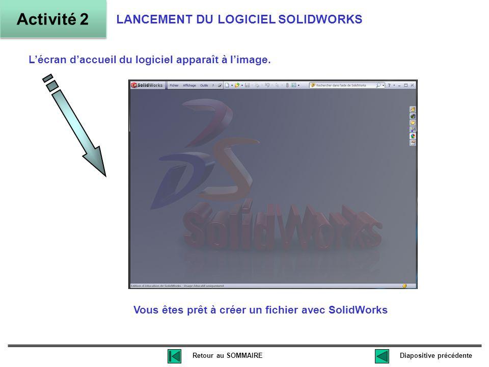 Vous êtes prêt à créer un fichier avec SolidWorks