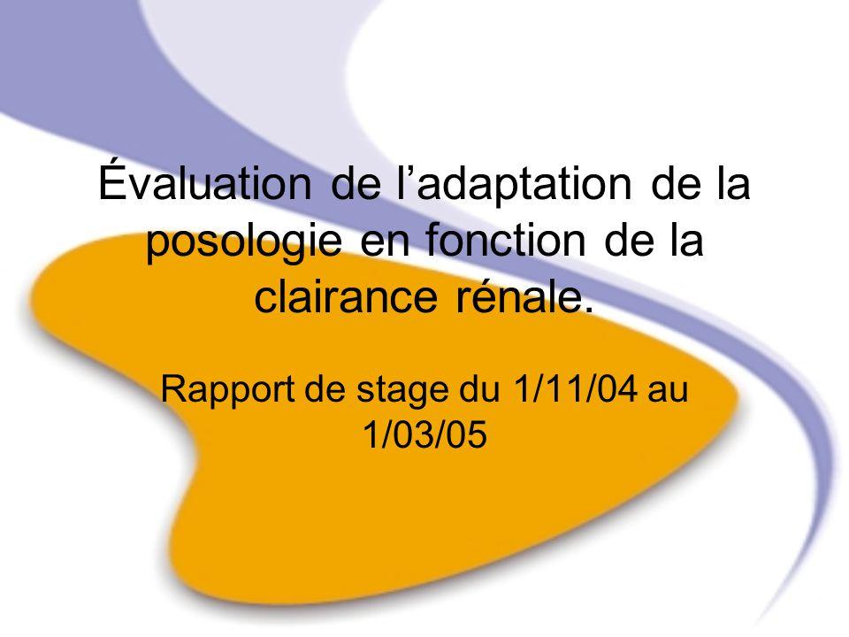 Rapport de stage du 1/11/04 au 1/03/05