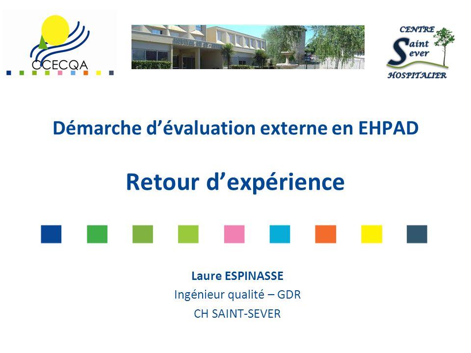 Démarche d'évaluation externe en EHPAD Retour d'expérience