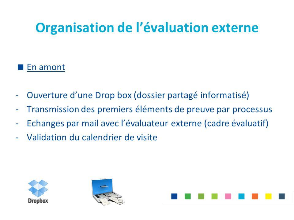 Organisation de l'évaluation externe
