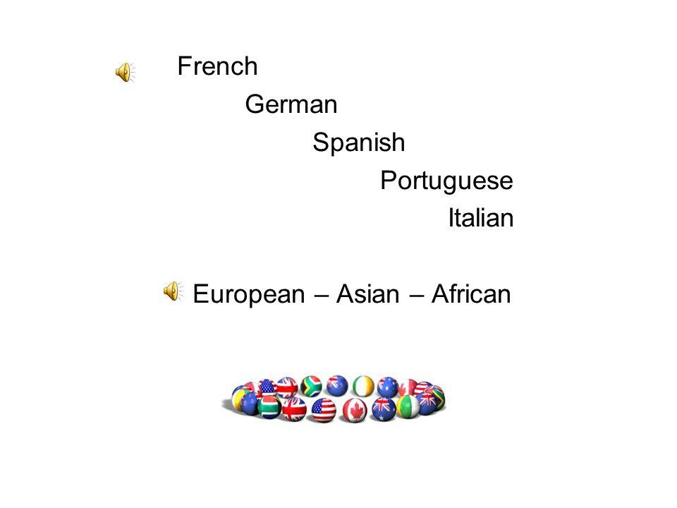 European – Asian – African