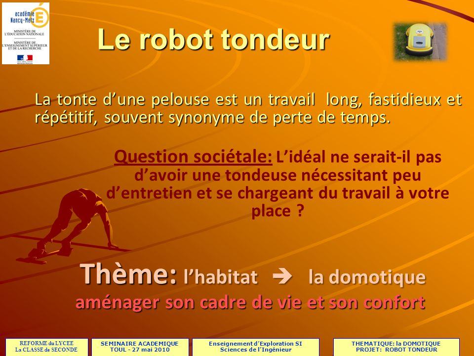 Le robot tondeur La tonte d'une pelouse est un travail long, fastidieux et répétitif, souvent synonyme de perte de temps.