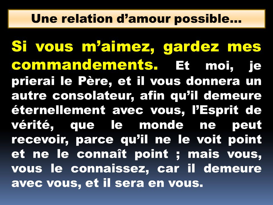 Une relation d'amour possible…
