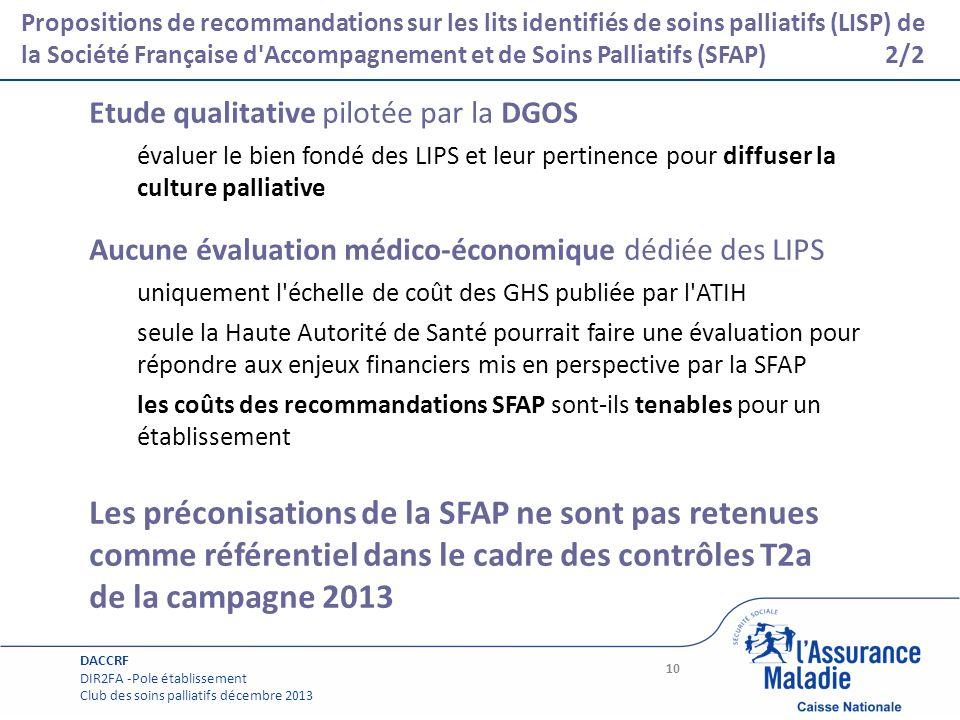 Les préconisations de la SFAP ne sont pas retenues