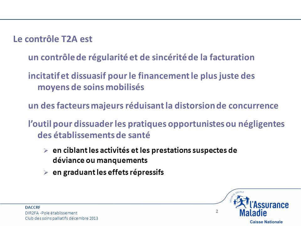 Le contrôle T2A est un contrôle de régularité et de sincérité de la facturation.
