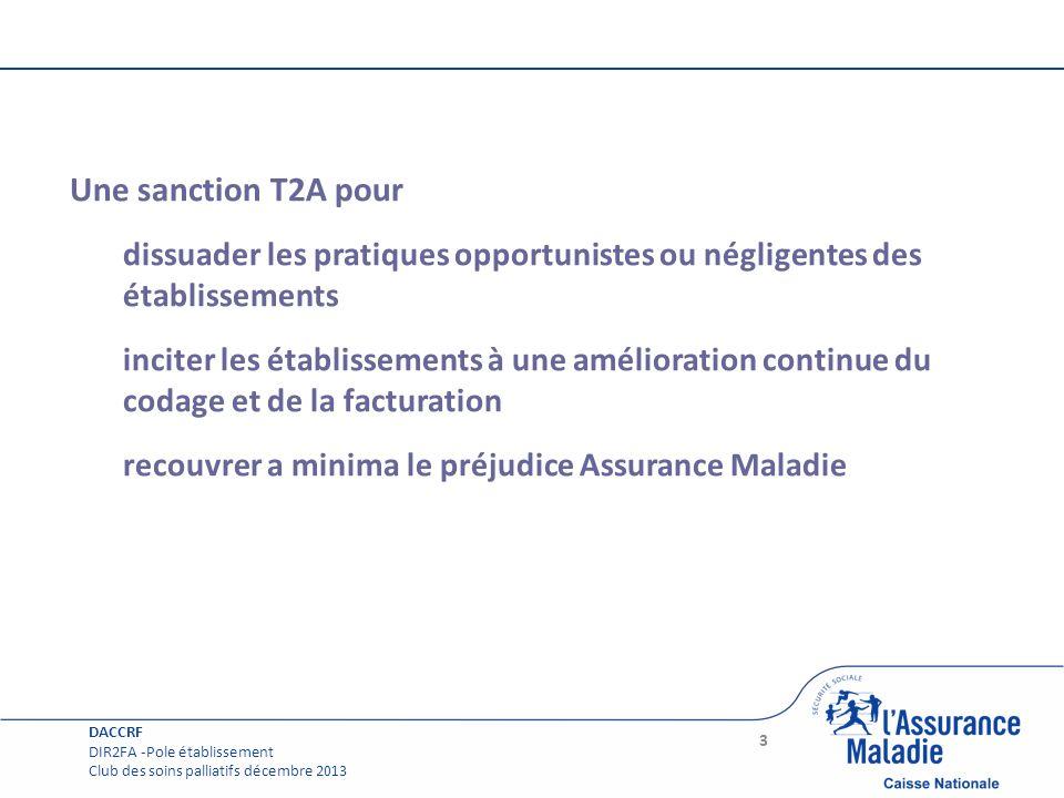 Une sanction T2A pour dissuader les pratiques opportunistes ou négligentes des établissements.