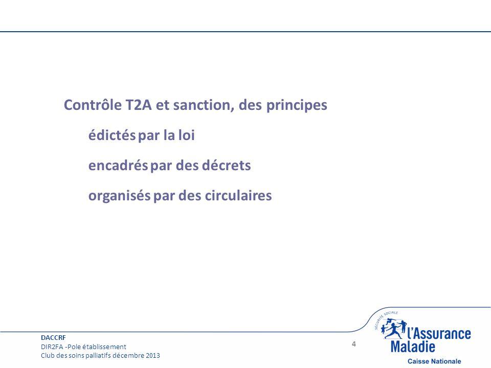 Contrôle T2A et sanction, des principes