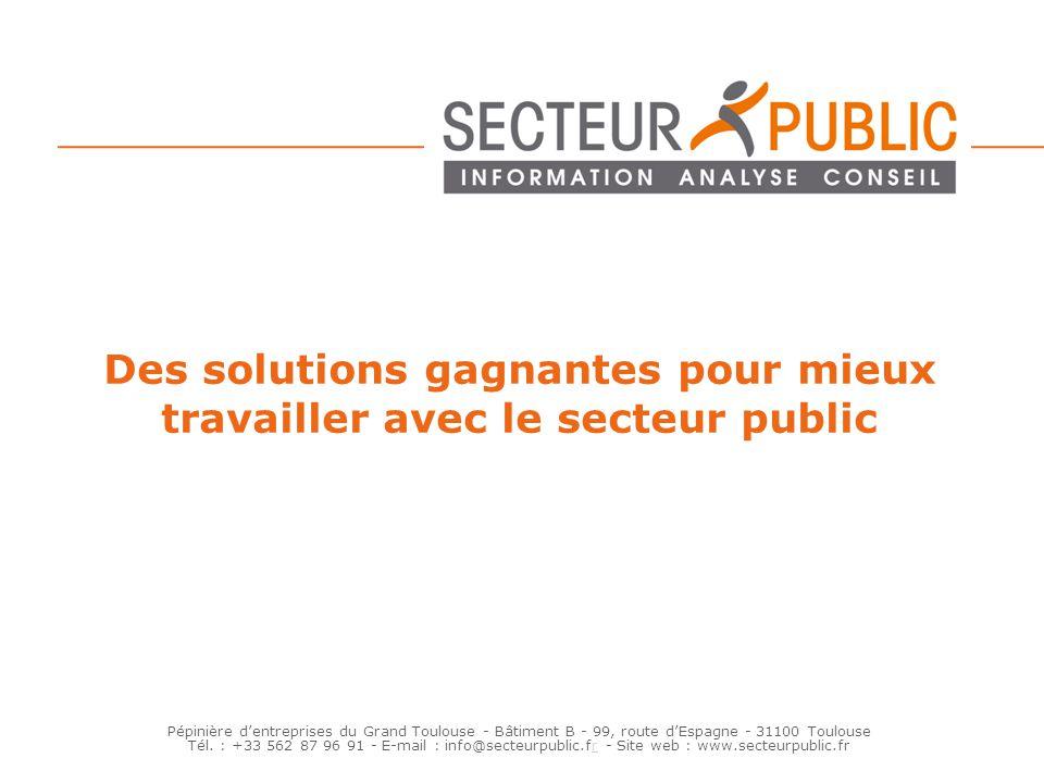 Des solutions gagnantes pour mieux travailler avec le secteur public
