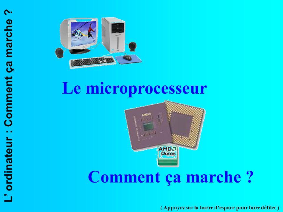 Le microprocesseur Comment ça marche