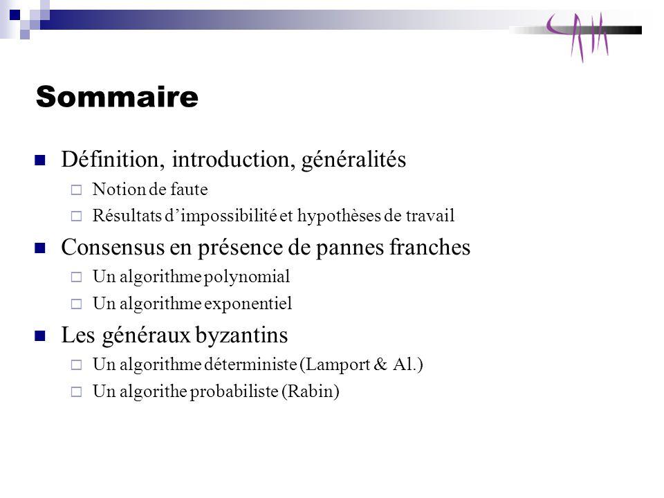 Sommaire Définition, introduction, généralités