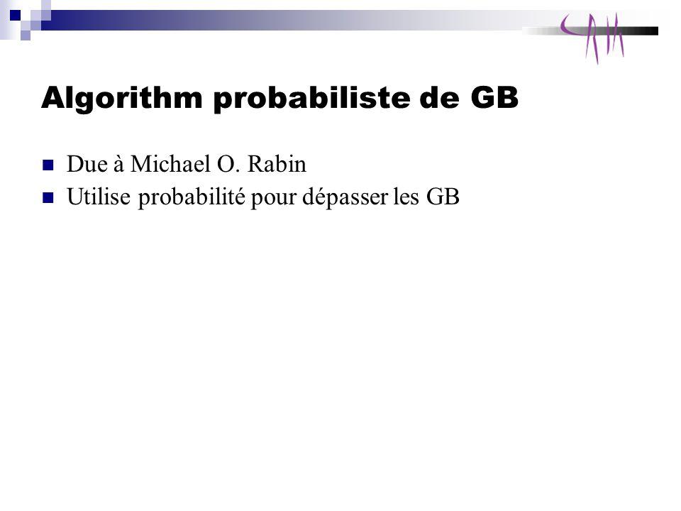 Algorithm probabiliste de GB