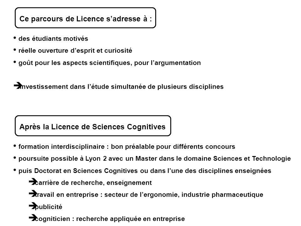 Ce parcours de Licence s'adresse à :