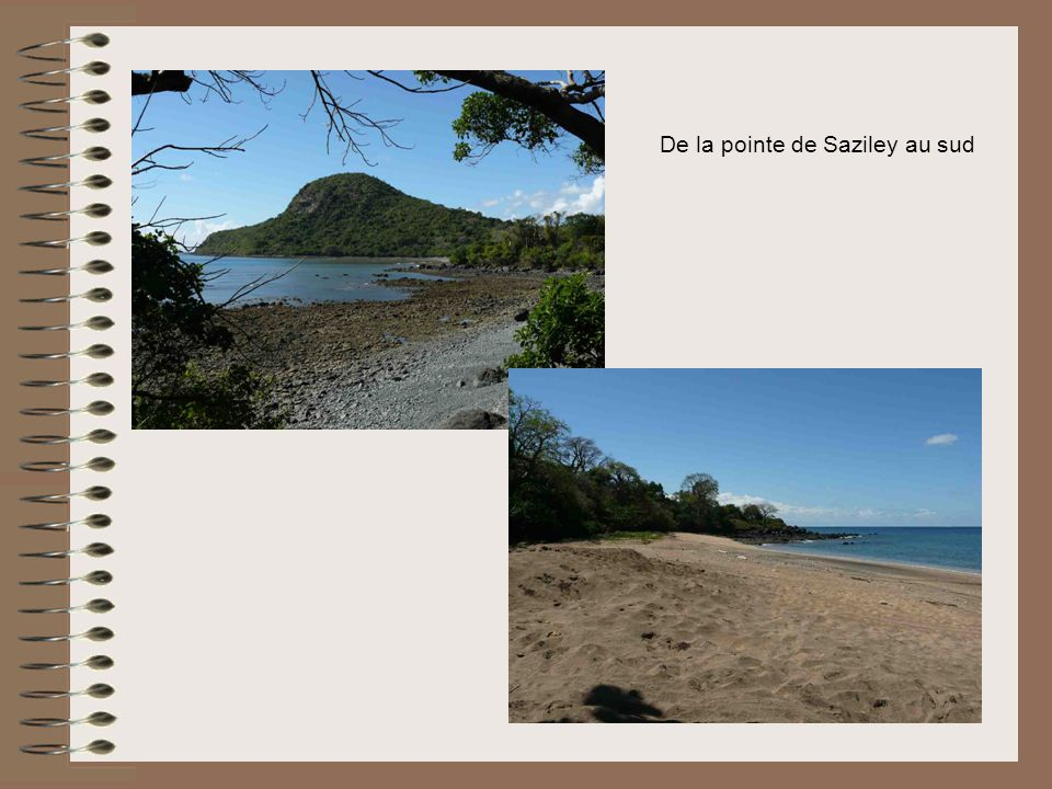 De la pointe de Saziley au sud