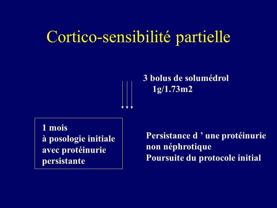 Cortico-sensibilité partielle