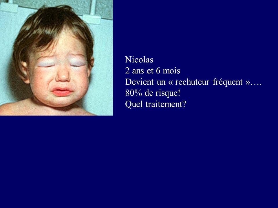 Nicolas 2 ans et 6 mois Devient un « rechuteur fréquent »…. 80% de risque! Quel traitement