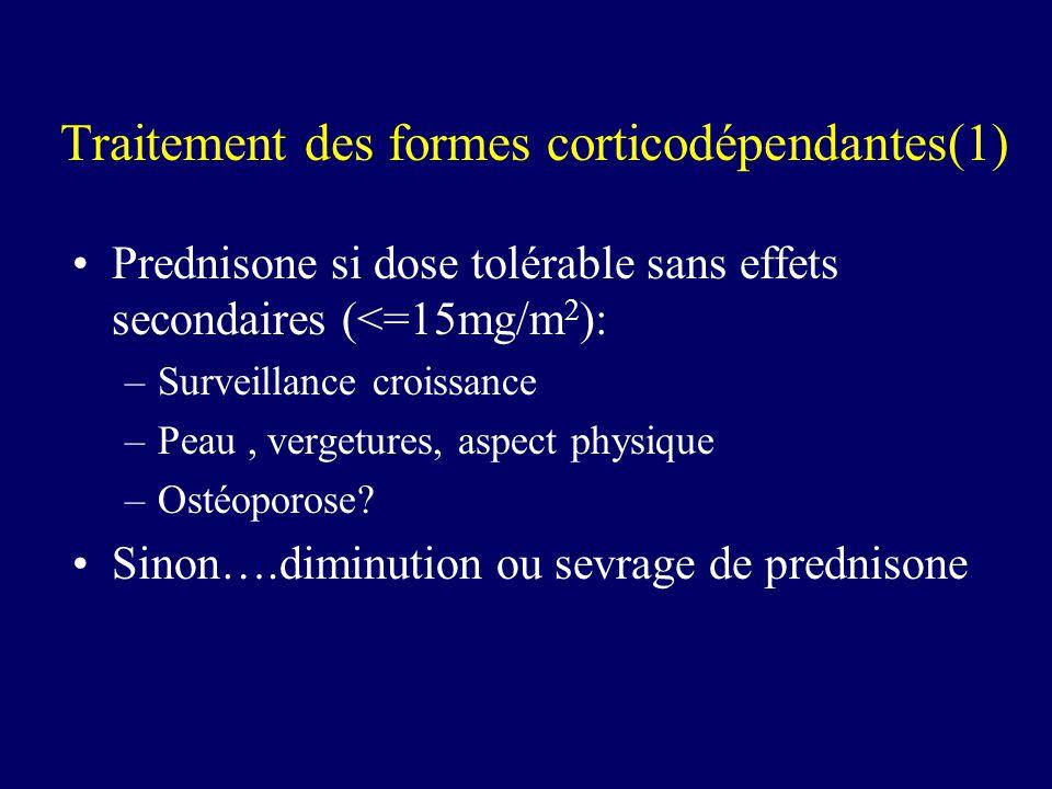 Traitement des formes corticodépendantes(1)
