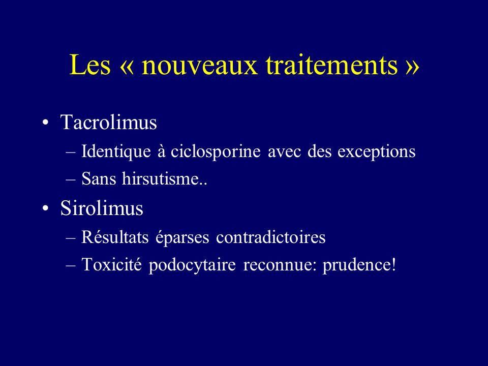 Les « nouveaux traitements »