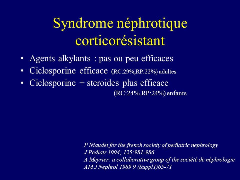 Syndrome néphrotique corticorésistant