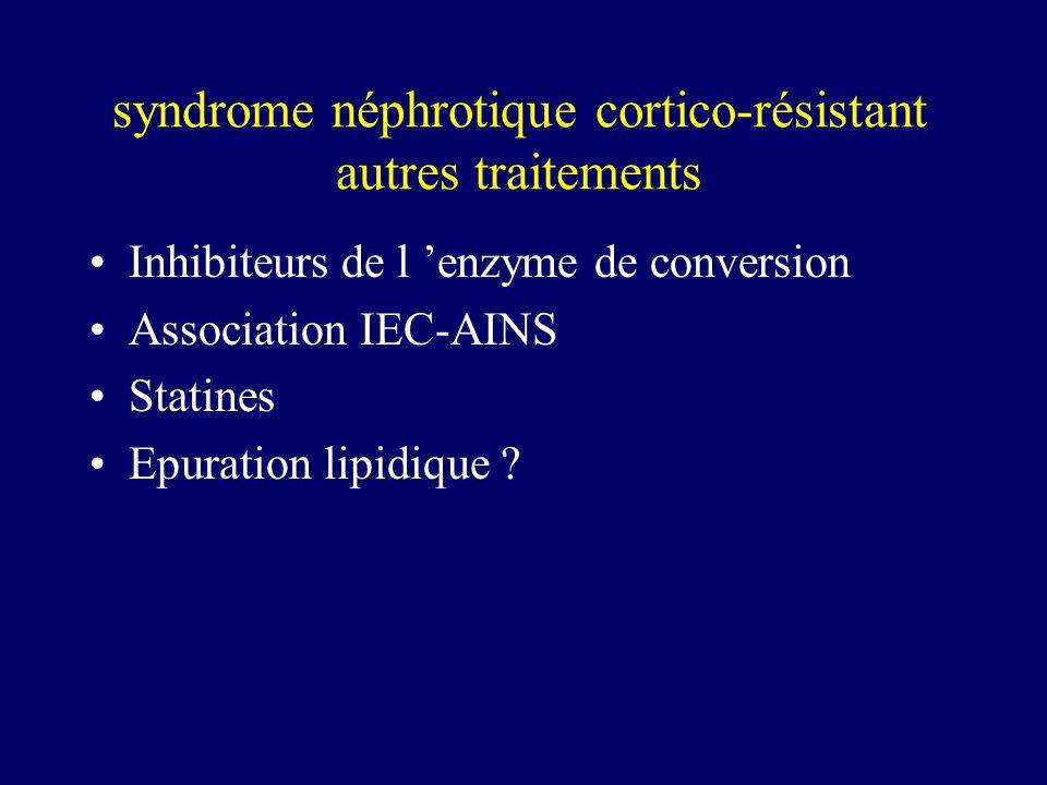 syndrome néphrotique cortico-résistant autres traitements