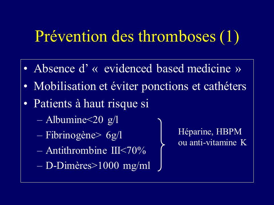 Prévention des thromboses (1)