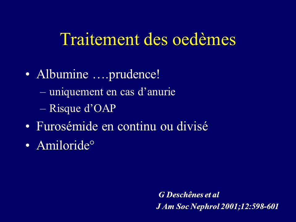 Traitement des oedèmes