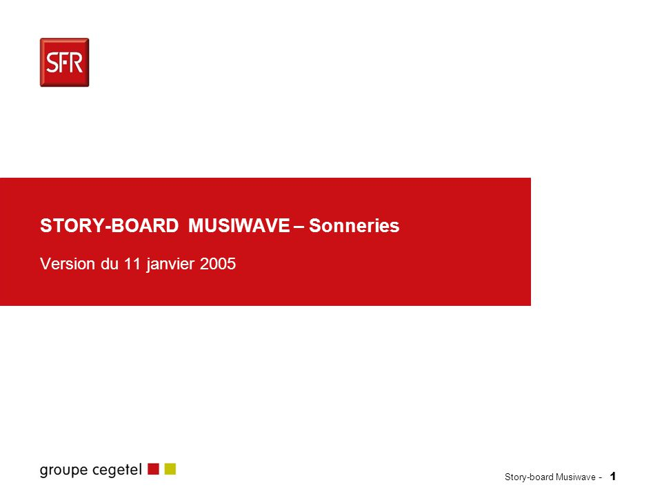 STORY-BOARD MUSIWAVE – Sonneries